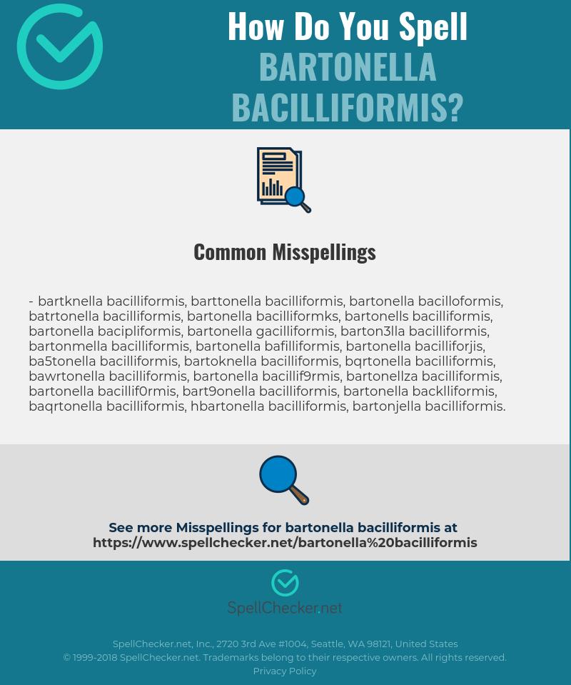 Correct spelling for Bartonella bacilliformis [Infographic