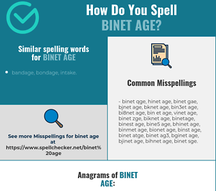 Correct spelling for Binet age