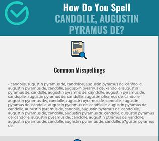 Correct spelling for Candolle, Augustin Pyramus de