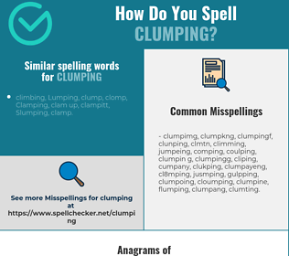 Correct spelling for clumping