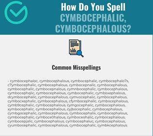 Correct spelling for cymbocephalic, cymbocephalous