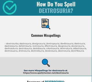 Correct spelling for dextrosuria