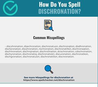 Correct spelling for dischronation