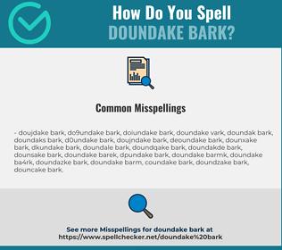 Correct spelling for doundake bark