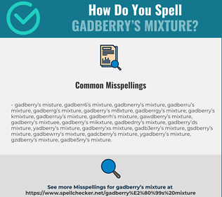 Correct spelling for Gadberry's mixture