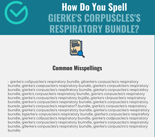 Correct spelling for Gierke's corpuscles's respiratory bundle