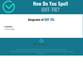Correct spelling for gut-tie