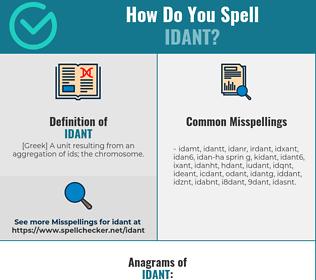 Correct spelling for idant