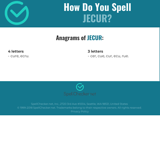 Correct spelling for jecur