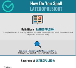 Correct spelling for lateropulsion
