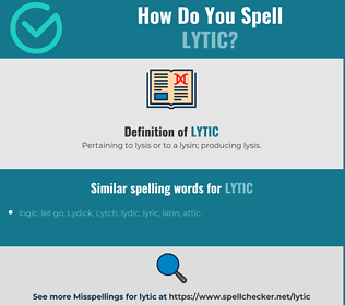 Correct spelling for lytic