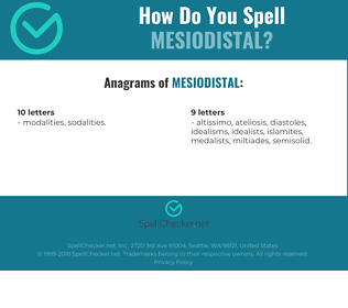 Correct spelling for mesiodistal