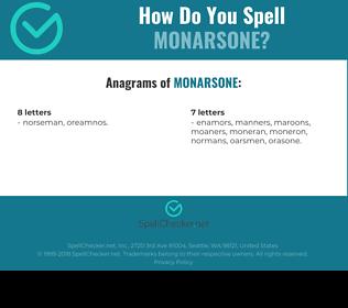 Correct spelling for monarsone
