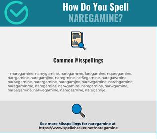 Correct spelling for naregamine