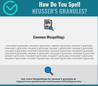 Correct spelling for Neusser's granules