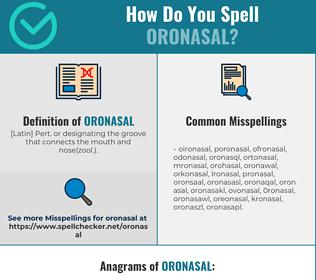 Correct spelling for oronasal