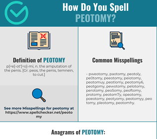 Correct spelling for peotomy