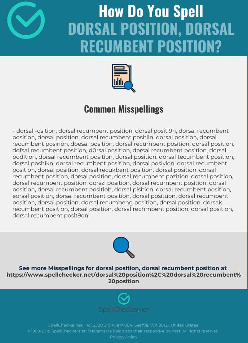 Correct spelling for dorsal position, dorsal recumbent