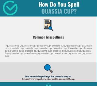 Correct spelling for quassia cup