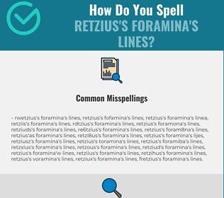 Correct spelling for Retzius's foramina's lines