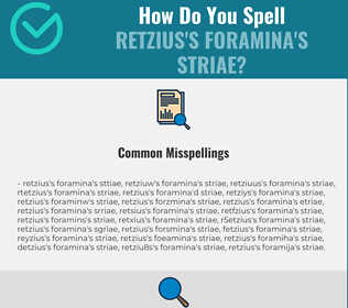 Correct spelling for Retzius's foramina's striae