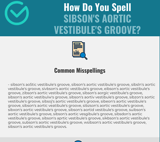 Correct spelling for Sibson's aortic vestibule's groove