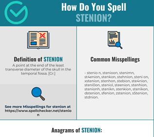 Correct spelling for stenion