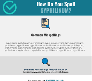 Correct spelling for syphilinum