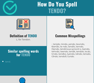 Correct spelling for tendo