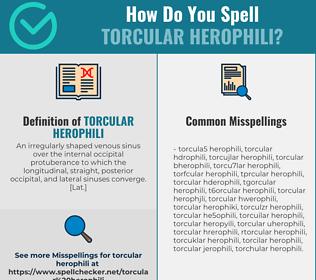 Correct spelling for torcular Herophili