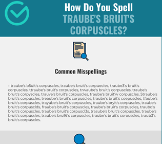 Correct spelling for Traube's bruit's corpuscles