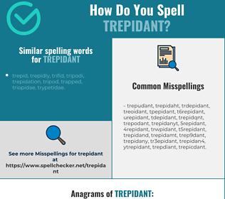 Correct spelling for trepidant