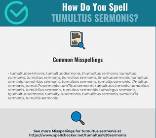 Correct spelling for tumultus sermonis