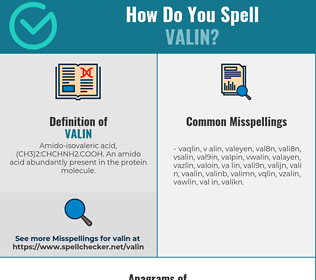 Correct spelling for valin