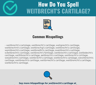 Correct spelling for Weitbrecht's cartilage