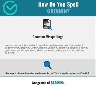 Correct spelling for Gadinin