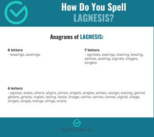 Correct spelling for Lagnesis
