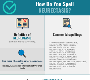 Correct spelling for Neurectasis