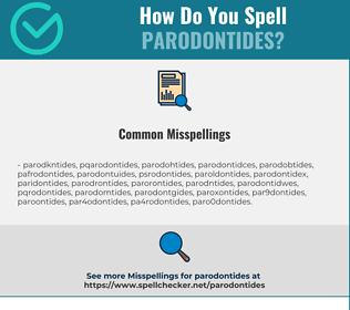 Correct spelling for Parodontides