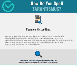 Correct spelling for Tarantismus