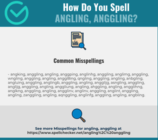 Correct spelling for angling, anggling