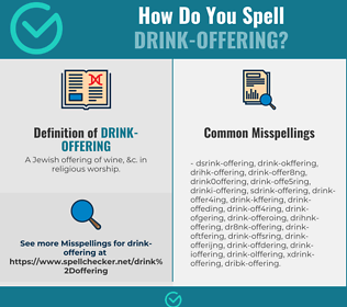 Correct spelling for drink-offering