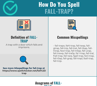 Correct spelling for fall-trap