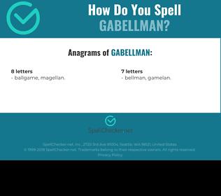 Correct spelling for gabellman