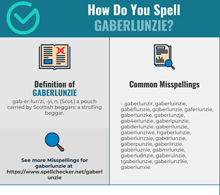 Correct spelling for gaberlunzie