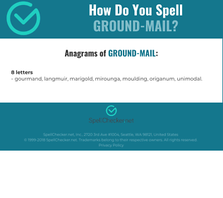 Correct spelling for ground-mail