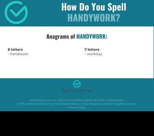 Correct spelling for handywork
