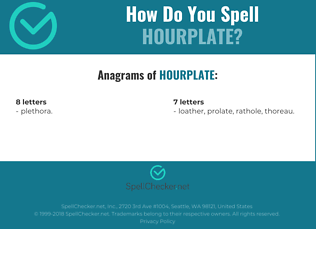 Correct spelling for hourplate