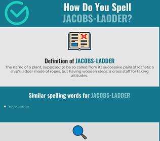 Correct spelling for jacobs-ladder