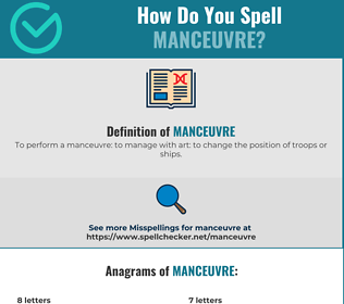 Correct spelling for manceuvre